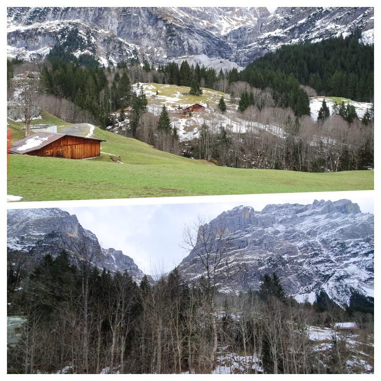 Paisagens alpinas na chegada ao Glaciar Oberer Gletscher