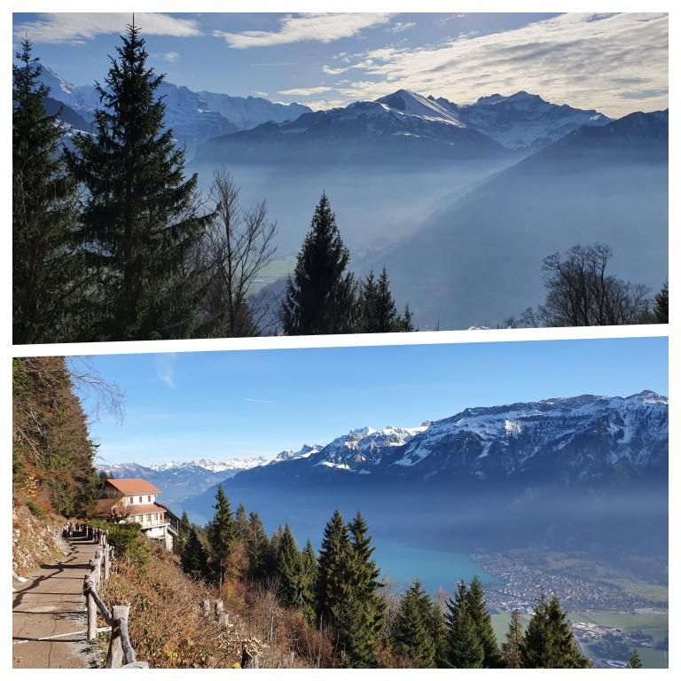 Vista do Harder Kulm em Interlaken