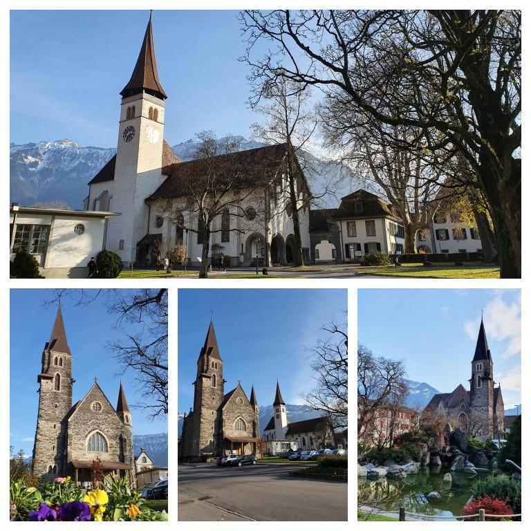 Schlosskirche, Schlosspark e Japanischer Garten Interlaken