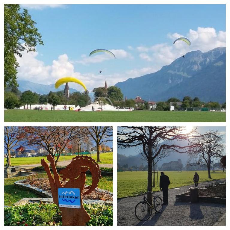 Höhematte: parque onde aterrissam os voos de parapente / paraglider