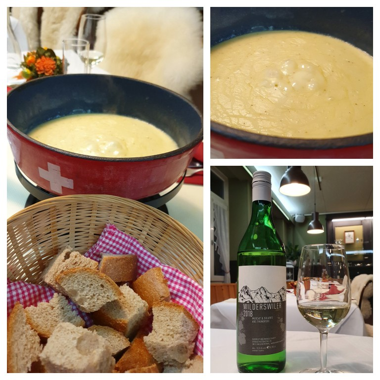 Fondue de queijo com vinho branco: produtos da região