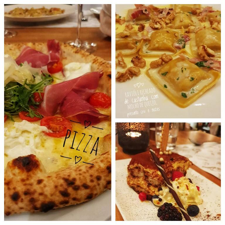 Pizza, ravioli e tiramisú: jantar italiano