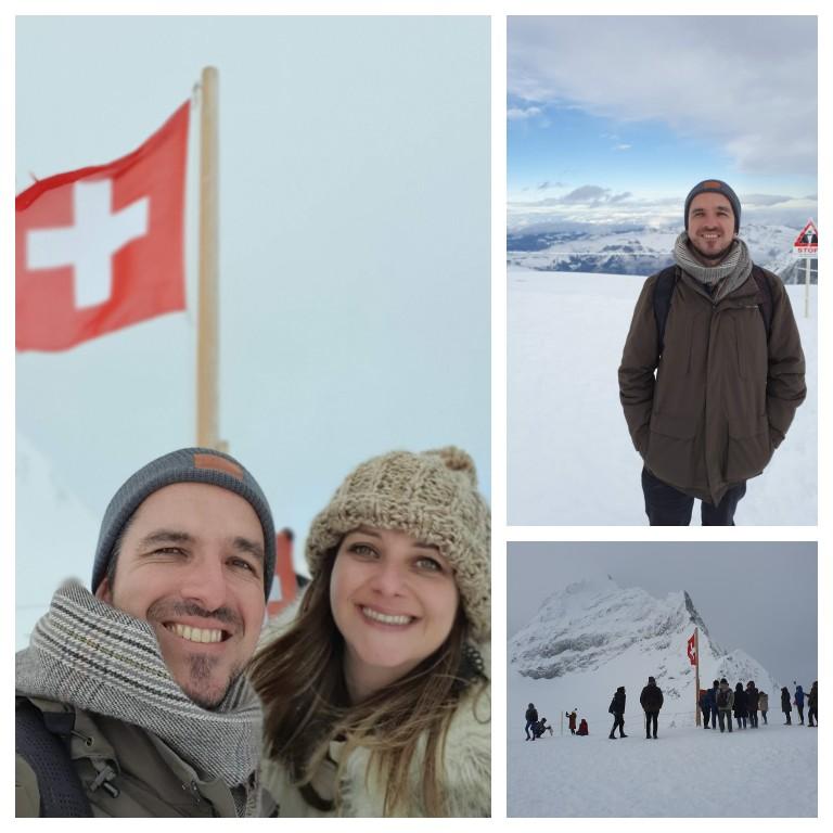 Andando na neve a -20º no Top of Europe