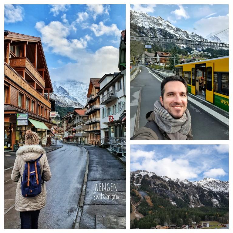 Uma parada na charmosa Wengen em meio aos alpes suíços