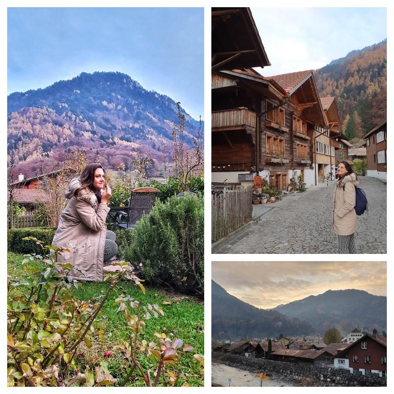 Caminhando pela comuna de Wilderswil, vizinha a Interlaken