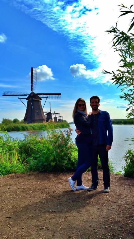 Kinderdijk: moinhos e a vegetação