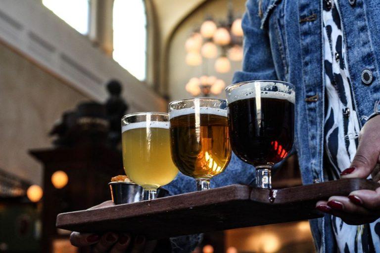 Cervejas belgas no Olivier Biercafé