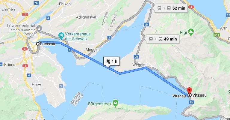 Barco de Lucerna a Vitznau (1 hora de duração)