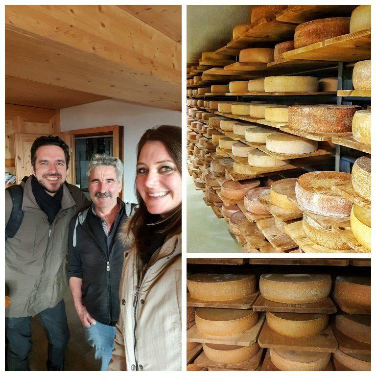 """""""Cheese Cellar"""", o local onde os queijos alpinos produzidos durante o verão ficam armazenados para o processo de maturação"""
