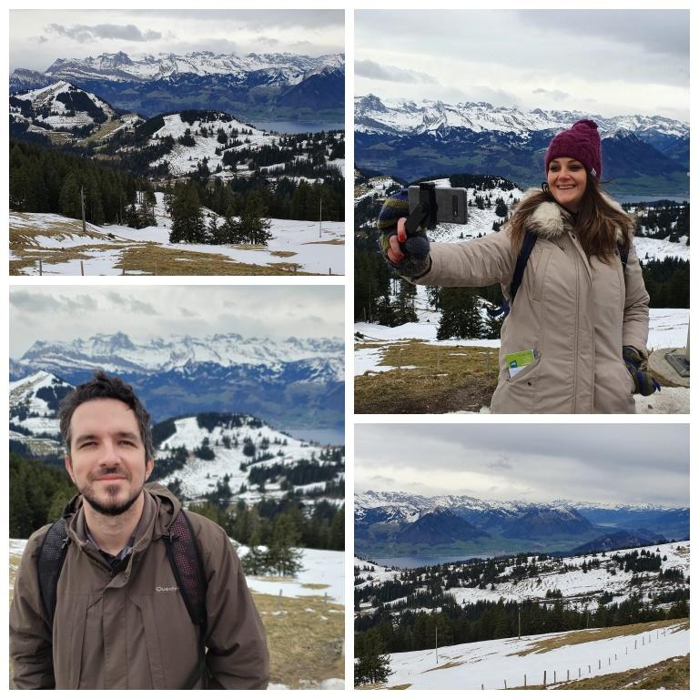 Rigi Kulm: montanhas cobertas de neve por todos os lados