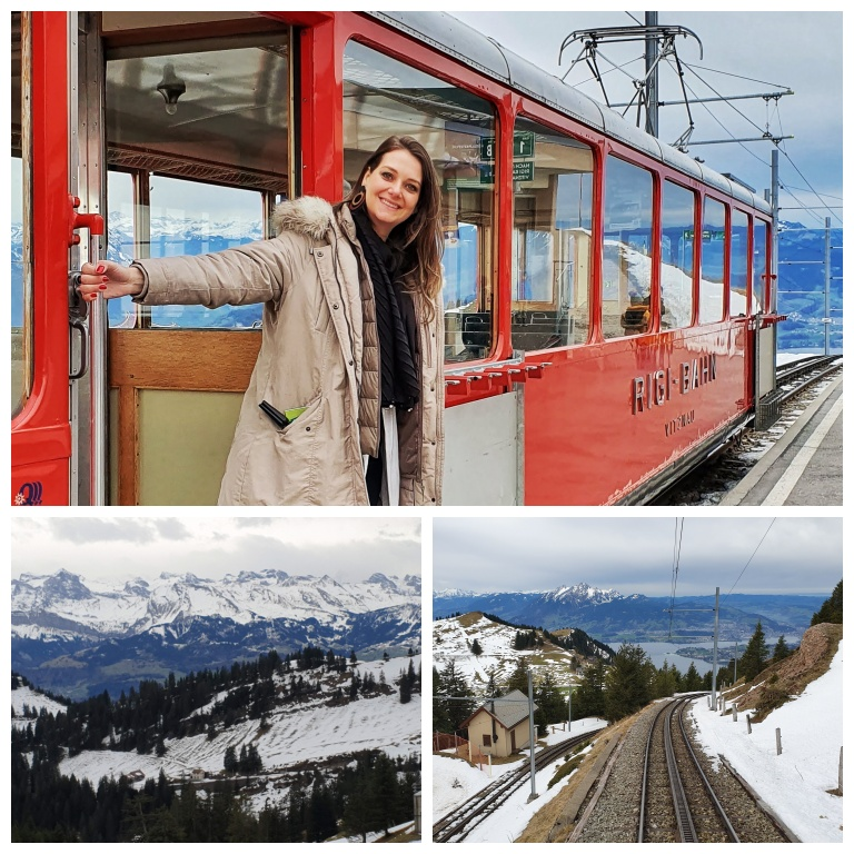 Chegada ao Rigi Kulm - topo do Monte Rigi