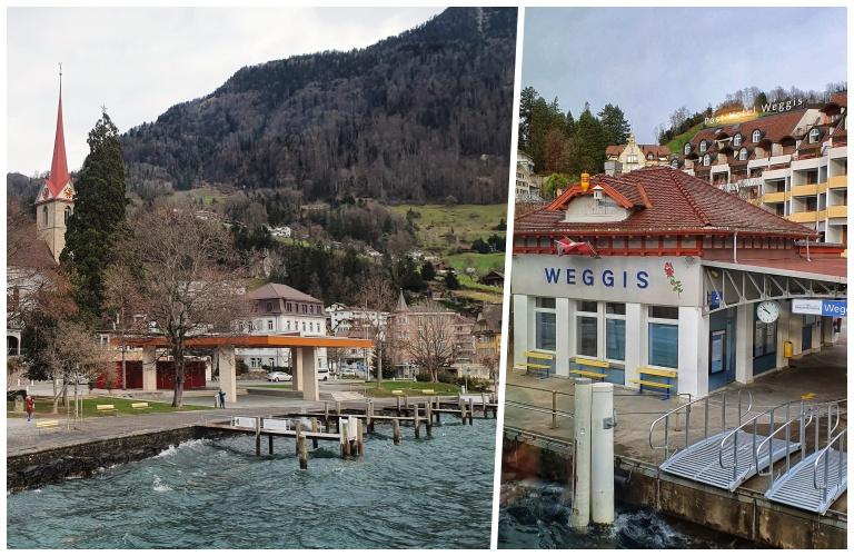Weggis: pequena parada do barco de Lucerna a Vitznau