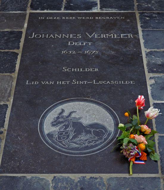 Placa discreta em homenagem a Johannes Vermeer
