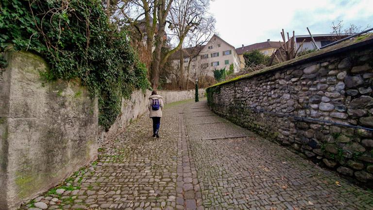 Via Stadtsteig: muralha medieval de Bregenz