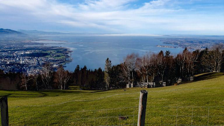 Mirante do lago na Montanha Pfander em Bregenz: vistas espetaculares das paisagens da região