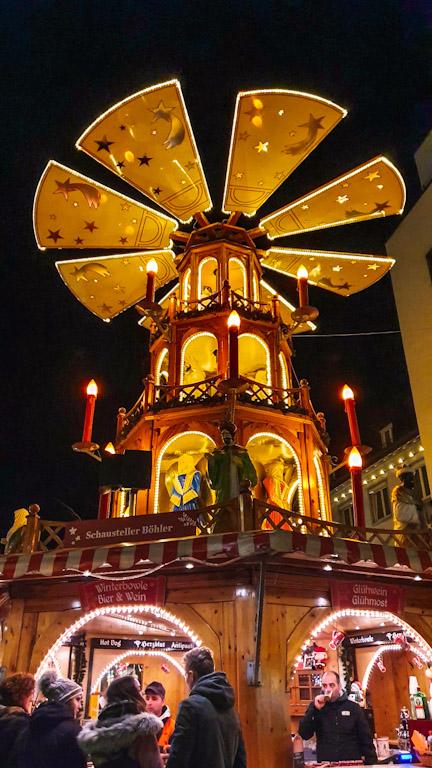 Mercado de Natal de Bregenz na praça Kornmarktplatz