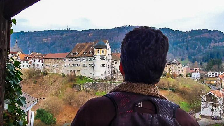 Kapuzinerkloster - Mosteiro dos Capuchinhos: a vista panorâmica das fortificações Cidade Alta