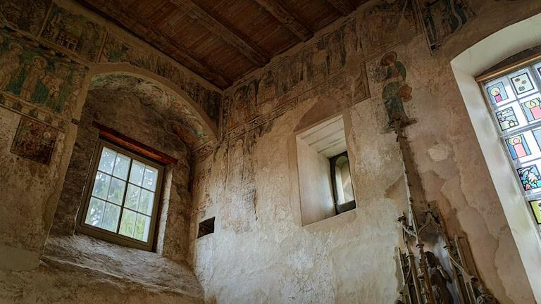 Afrescos da parte interna da Martinskapelle - a Capela de São Martinho