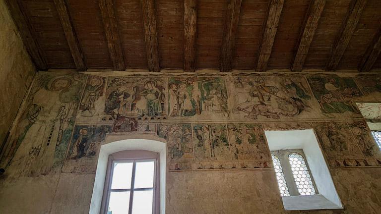 Martinskapelle - a Capela de São Martinho: afrescos com cenas da vida de Jesus