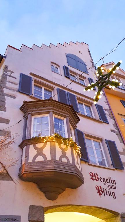 Centro Histórico de Lindau - Maximilianstrasse: sacadas das casas eram algo caro e denotavam status