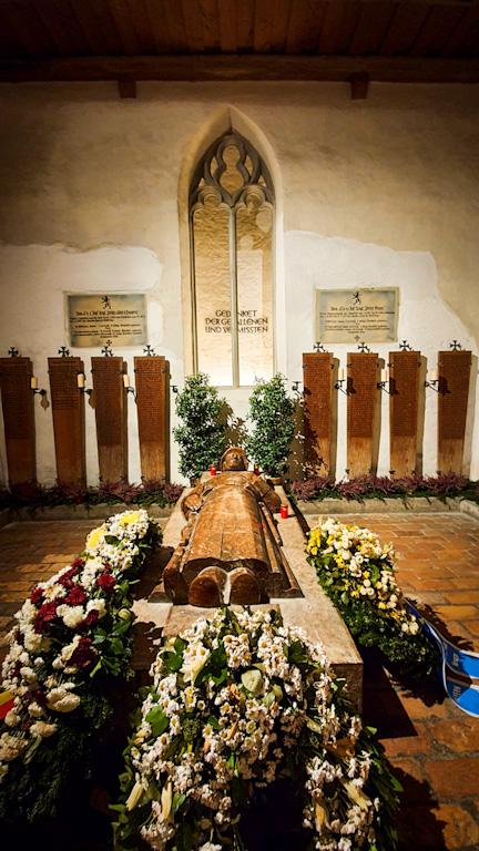 Detalhes da parte interna da Peterskirche