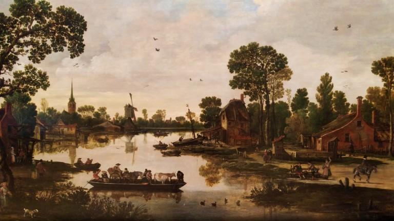 Ferry Boat - Esaias van de Velde (1622)