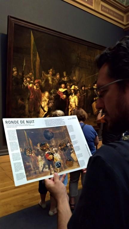 "De Nachtwacht (em português ""Ronda Noturna""), obra-prima de Rembrandt"