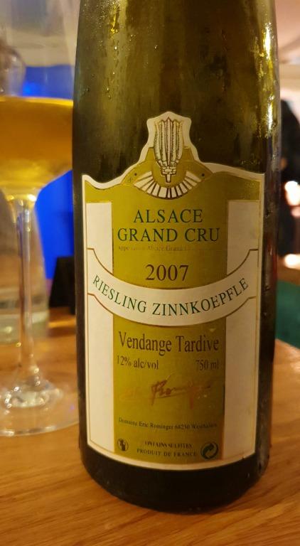 Riesling Zinnkoepfle Grand Cru (2007)