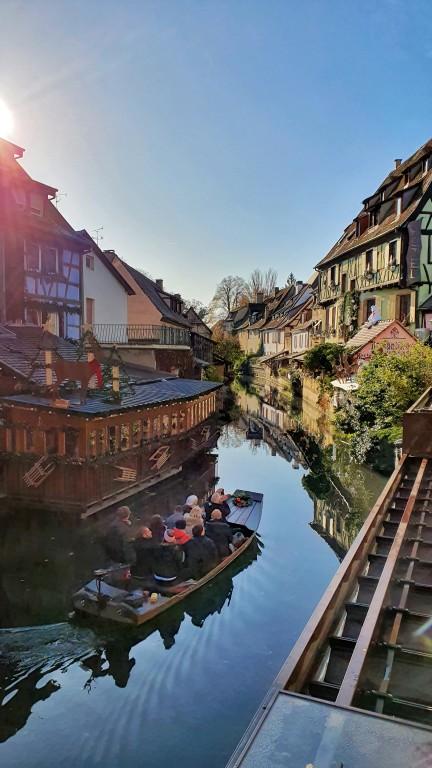 Pontes sobre o rio Lauch em Colmar, na Alsácia