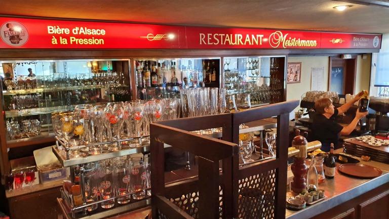 Detalhes do interior do salão do Restaurant Meistermann