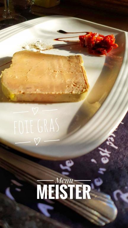 Entradas: Foie Gras (Menu Meister)