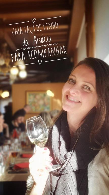 Restaurant Meistermann: taça de vinho da Alsácia