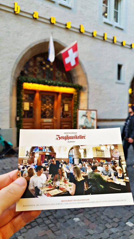 Entrada do Zeughauskeller | Onde comer em Zurique