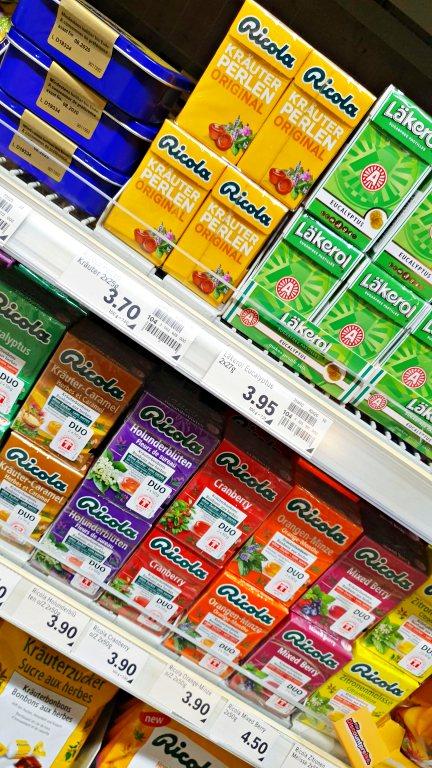 Ricola | O que comprar nos supermercados na Suíça