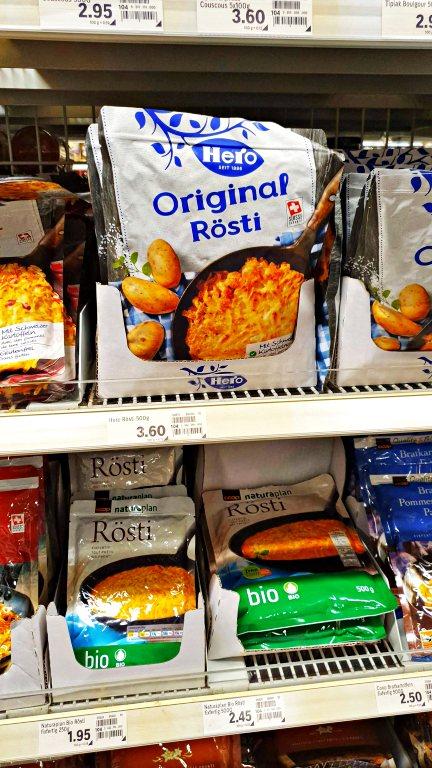Batata Rösti | O que comprar nos supermercados na Suíça
