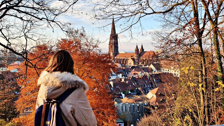 Vista da Catedral de Freiburg no Schlossberg | O que fazer em Freiburg