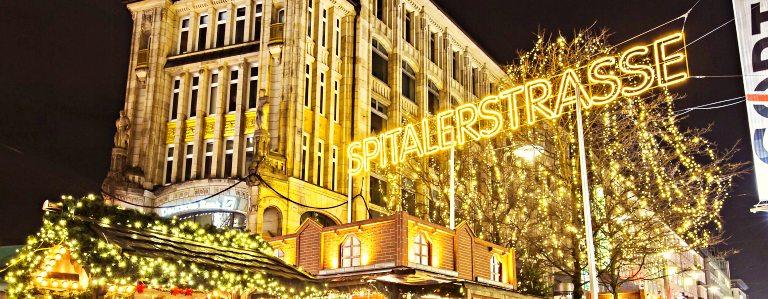 Weihnachtsmarkt Spitalerstrasse | Mercados de Natal em Hamburgo