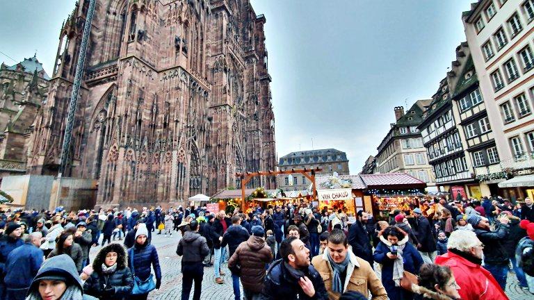 Marché de Noël à Strasbourg: Mercado de Natal em Estrasburgo