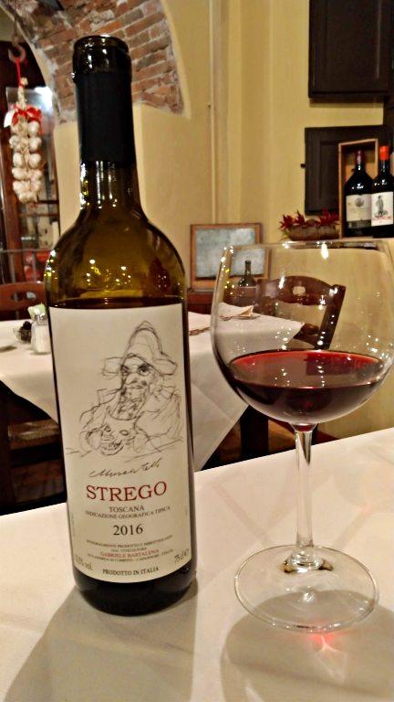 Vinho da Casa no Il Mecenate - Onde comer em Lucca
