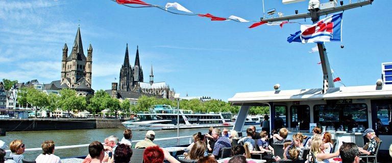 Köln-Dusseldorfer (KD)   Panorama de ida e volta Colônia   foto: Köln-Dusseldorfer (KD)