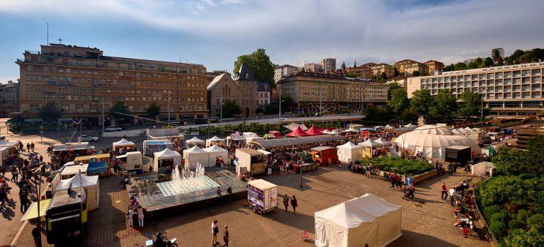 Mercado na Place de la Riponne | O que fazer em Lausanne (foto: lausanne-tourisme.ch)