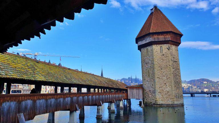 Kapellbrücke - Ponte da Capela e Torre de àgua de Lucerna