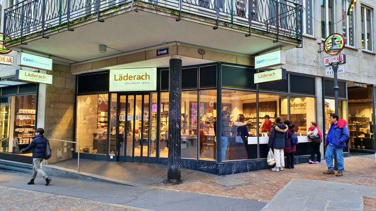 Läderach| Loja de Chocolate em Lucerna